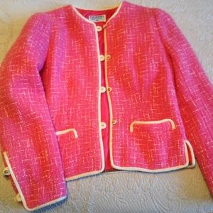 Chanel Hot Pink Boucle Wool Jacket 1960's